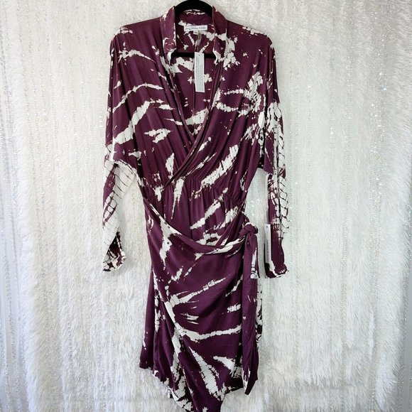 YFB Young Fabulous & Broke Raine Wrap Dress Purple